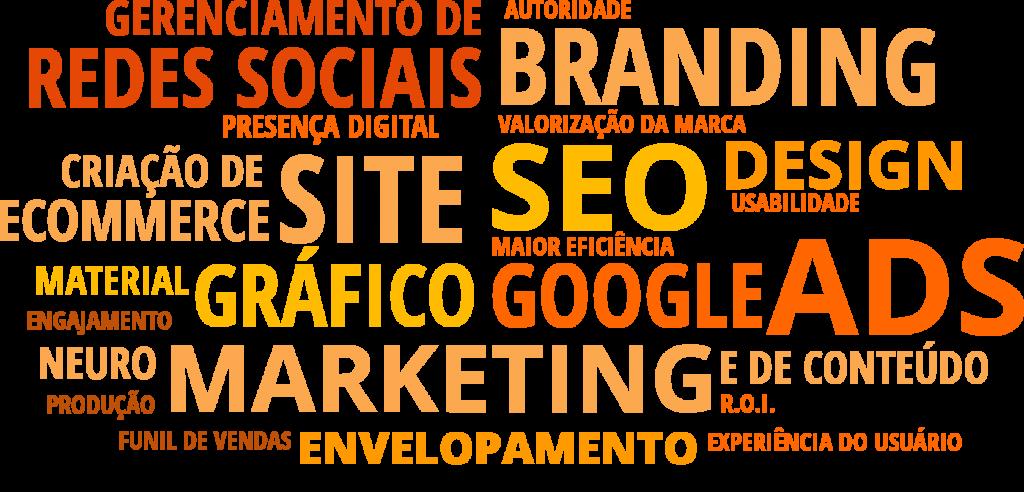Gerenciamento de redes sociais • criação de sites • google ads • Marketing de conteúdo • seo • branding• material gráfico • envelopamento